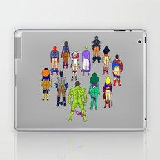 Superhero Power Couple Butts - Grey Laptop & iPad Skin