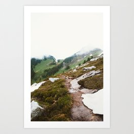 Alpine Meadow Hike Art Print
