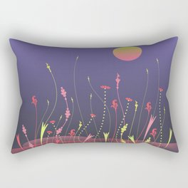Nightscape with full moon Rectangular Pillow