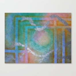 SUMMER ABSTRACT - Woven Canvas Print