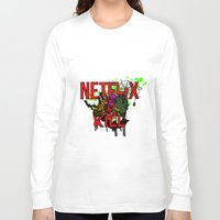 netflix Long Sleeve T-shirts featuring Netflix and Kill (Halloween) by 11thdimensioncomedy