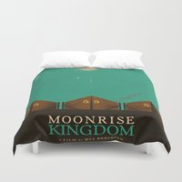moonrise kingdom Duvet Covers featuring MOONRISE KINGDOM by VAGABOND