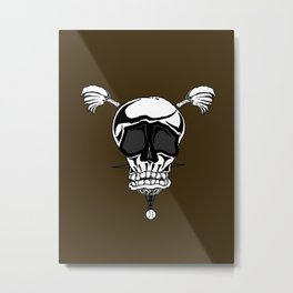 Baseball Skulls and Trebuchet's Metal Print