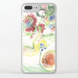 Subversive Floral II Clear iPhone Case