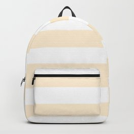 Papaya whip - solid color - white stripes pattern Backpack