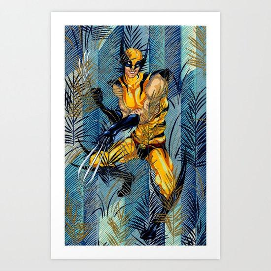 Wolverine Japan Forest Art Print