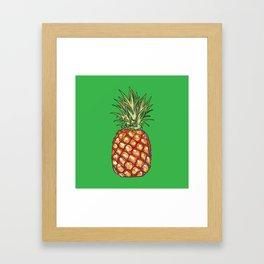 Pineapple, tropical, Hawaii Framed Art Print