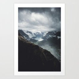 Via Ferrata Climbing in Loen, Norway Art Print
