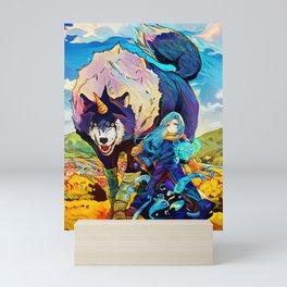 Colorful Doggo Mini Art Print