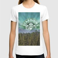 starbucks T-shirts featuring Starbucks Is Life by Tumblweave
