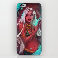 siren iPhone & iPod Skins featuring Siren by Ellen Su