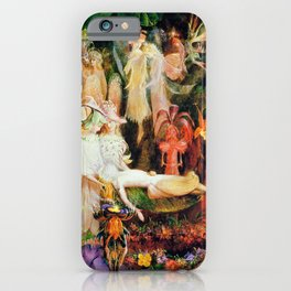 The Fairy's Woodland Funeral by John Anster Fitzgerald iPhone Case