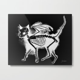 Devil Kitty - inverted Metal Print