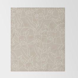 Minimalist Kangaroo Throw Blanket