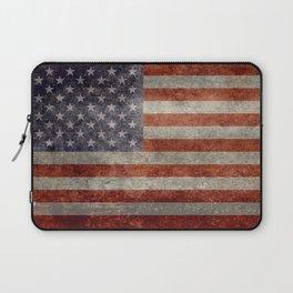 USA flag - Retro vintage Banner Laptop Sleeve
