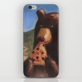 Bear Eating Pizza iPhone Skin