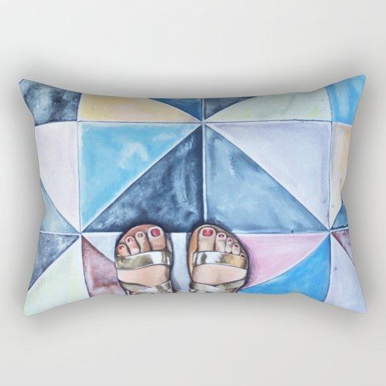 Art Beneath Our Feet - Mykonos Rectangular Pillow