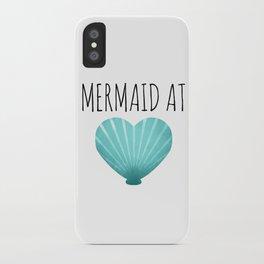 Mermaid At Heart  |  Teal iPhone Case
