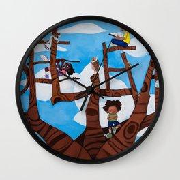 BELIEVE tree Wall Clock