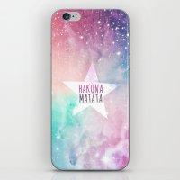 hakuna iPhone & iPod Skins featuring Hakuna Matata by Pink Berry Patterns