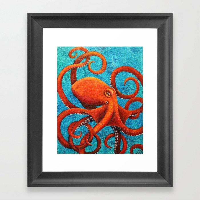 Holding On - Octopus Gerahmter Kunstdruck
