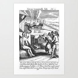 Satan Tempts Job Art Print