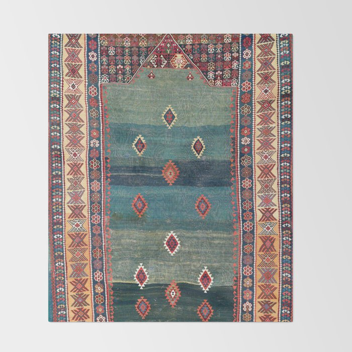 Sivas Antique Turkish Niche Kilim Print Decke