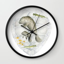 Manatee & Sea Turtle Wall Clock