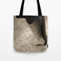 A Lady's Boots Tote Bag