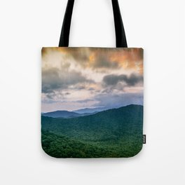 A Scenic Mountain View in Late Spring Tote Bag
