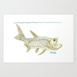 Key West Tarpon II Art Print