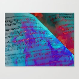 Music Passion Coming to Life Canvas Print
