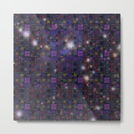 Great Wall of Code - Stars and Space Metal Print