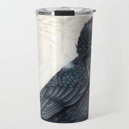 El ve a través del cuervo y controla la niebla Travel Mug