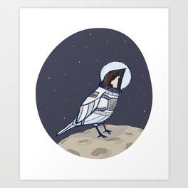 Space Sparrow Art Print