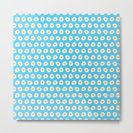 Crazy for fried eggs blue Metal Print