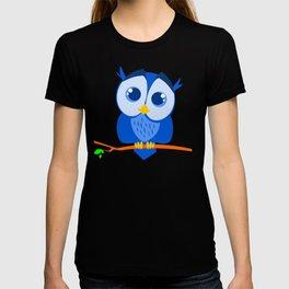 Sweet Little Blue Owl T-shirt