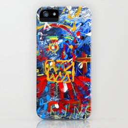 Crowned Clown, Abstract Art, Oils on Canvas, Acrylics, Splat iPhone Case
