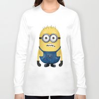 minion Long Sleeve T-shirts featuring Minion  by Lyre Aloise