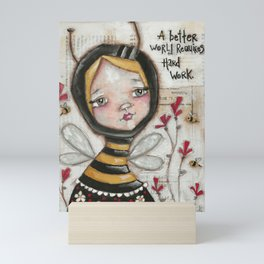 Worker Bees Mini Art Print
