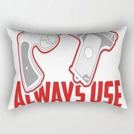 Guns Always Use Protection Rectangular Pillow