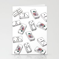 puerto rico Stationery Cards featuring Dominos de Puerto Rico by A Different Place and Time