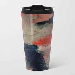 Independent: a red and blue abstract watercolor Travel Mug