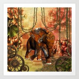 Steampunk, steampunk elephant Art Print