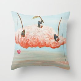 penguin dream catchers Throw Pillow