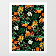 Fruit and Floral Pattern Art Print
