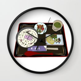 Nara Japanese Lunch Platter Wall Clock