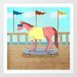 Summer Stroll Unicorn Art Print