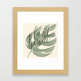 Plant Person Framed Art Print