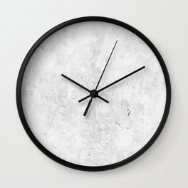 White Light Gray Concrete Wall Clock